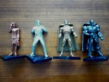 SUPERMAN METALLIC COLLECTIBLES FIGURES Set of 4 McDonalds Australia