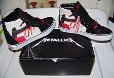 NEW Vintage METALLICA KILL EM ALL Vans SK8 Hi-Top Skateboard Skate Shoes Size 8