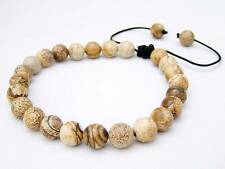 GEMSTONE Shamballa bracelet  all 8mm Picture Jasper Beads