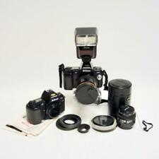 TWO (2) NIKON N8008 35mm SLR FILM CAMERA BUNDLE W/LENSES, SPEEDLIGHT & EXTRAS