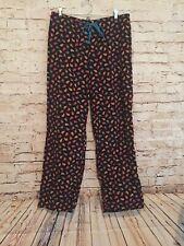 Vera Bradley Black Paisley Kensington Corduroy Lounge Pajama Pants Size Small