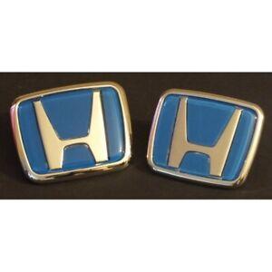 JDM TYPE BLUE EMBLEM SET FOR HONDA ACCORD CIVIC S2000 INTEGRA 1991 -2000