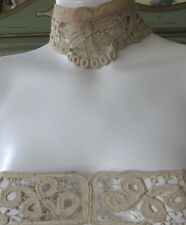 Antique Early Hand Made Needle Lace Collar &Yoke Guipure?Irish Wedding Gown Lot