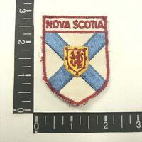 Vtg Embroidered Cloth NOVA SCOTIA COAT OF ARMS Canada Patch 06WK