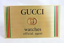 Vintage Gucci Watches Official Agent Store Display Dealer Sign Swiss