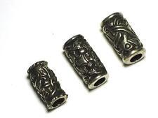 Three Viking Pewter Beard / Dreadlock Beads Jelling, Odins Raven, Jorvik Dragon.