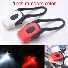 1x Silicone Bike Cycling Front Head Rear LED Flash Safety Torch Light Lamp NEW #
