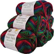Glimmer Twist Acrylic Yarn 100g 134m Multi Gemstone
