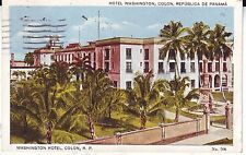 Panama CZ Colon - Hotel Washington 1930 postcard