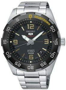 SEIKO SRPB83K1 5 Sports Automatic Day/Date Steel WR 100M 2 Year Guar RRP £260