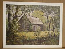 Natures Heirs Fred Thrasher Log Cabin Wildlife Deer Kentucky Artist Lake Malone