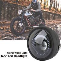 6.5 Pouce Phare de Moto LED Clignotant Lumière Ampoule Headlight Pour Cafe Race