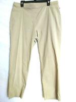 NWT Basic Editions Women's Sz XL,XXL   Stretch Pull On Tan Elastic Waist Pants