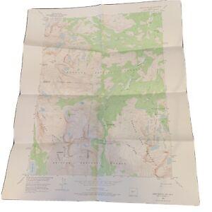 "Vintage 1953 Dept. Of Interior Map - Sweetwater Gap Wyoming - 22"" x 27"" Topo"