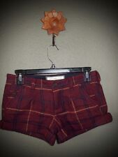 *SUPER CUTE PLAID SHORTS BY ABERCROMBIE & FITCH ~ SIZE 00*