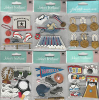 U CHOOSE  Assorted Jolee's SPORTS 3D Stickers cheerleading medals rollerblading