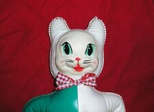 1940s Vintage PUSS & BOOTS Vinyl Plastic SOFTSKIN LITTLE BIGSHOT Stuffed Animal