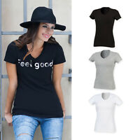 SF Feel Good Women's Stretch V-Neck Tee (SK122) - Short Sleeve T-Shirt