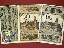 3 x Notgeld Bialla Gehlenburg , german emergency money , M/G 100.2 ,  kfr./unc