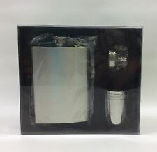 Visol 8 oz Flask Gift Set Stainless Steel Satin Finish With Funnel and Shot Cups