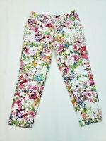 Liz Claiborne women's Floral Print Capri Pants size 8 P32