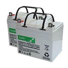 2x lucas 12v 32ah 33ah 34ah AGM/GEL batteries mobility scooter battery