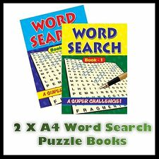 2 X A4 Large Print Word Search Puzzle Book Books 272 Puzzles A4 Pages Trivia Uk