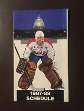 Washington Capitals 1987-88 Nhl pocket schedule - Giant Food