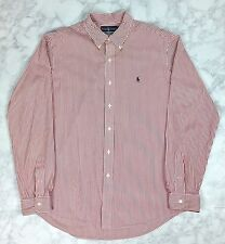 Polo Ralph Lauren Men's L/S Custom Fit Striped Pony Logo Button Down Shirt XL