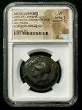 AE Dilitron from Syracuse in Sicily cira 395 BC King Dionysios I NGC VF 3011
