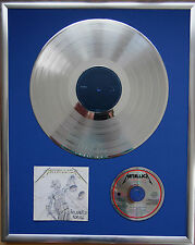 "Metallica and Justice gerahmte CD Cover +12"" Vinyl goldene/platin Schallplatte"