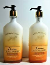 2 Bath & Body Works Aromatherapy REVIVE Orange, Mandarin, Guava Body Lotion