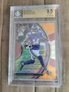 2017 stefon diggs select tri color bgs 9.5 #113/199