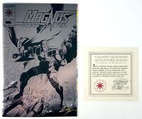 Magnus Robot Fighter #25 NM SIGNED Embossed Silver Foil CVR w/COA (1993) Valiant