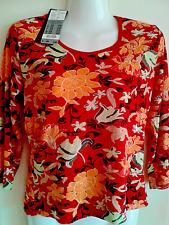 S. Oliver Shirt 3/4 arm bunt Blumen rot Gr. 38 Neu mit Etikett