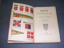 Dijon H. Chabeuf Dijon à travers les siècles 1897 monographie illustrée blasons