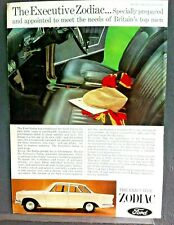 FORD EXECUTIVE ZODIAC (211E)  -1965 - Road Test removed from AUTOCAR + Advert