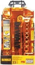 "NEW DEWALT DWMT73813 23 PC 1/2"" METRIC SAE IMPACT DRIVE SOCKET TOOL SET & CASE"