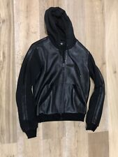 Dolce And Gabbana D&G Men's Leather Hoody Jacket Jumper Sweater Hoodie Zip Up