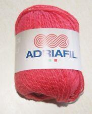 Pelote de laine ADRIAFIL PROVENZA rouge fraise 61% coton 39% lin