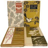 Vintage Lot 4 Japanese Haiku Harvest Four Seasons Peter Pauper Press Poems HC DJ