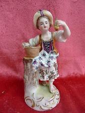 schöne ,alte Porzellanfigur__Mädchen mit Obst__Dresden__!