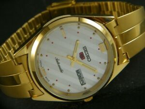 VINTAGE UNUSED SEIKO AUTOMATIC JAPAN MEN'S DAY/DATE GP WATCH 432a-a215051-2