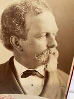 Antique Cabinet Card Photo Sarony Victorian Portrait Hawley 1880's Theater    E