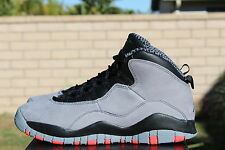 NIKE AIR JORDAN 10 RETRO X BG GS SZ 5 Y COOL GREY INFRARED BLACK 310806 023