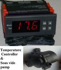 Sous Vide Temperature Controller Thermostat & 12V Food Grade High Temp 100C Pump