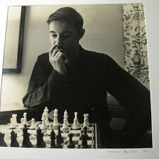1945 HORACE BRISTOL PHOTO OF SON BOBBY BRISTOL AT HOME IN CHESS GAME #4