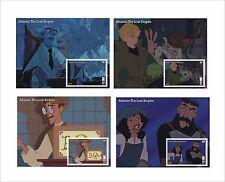 2017 DISNEY  Atlantis The Lost Empire 8 SOUVENIR SHEETS MNH animation cartoons