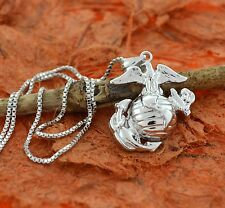 Eagle anchor cross pendant ebay eagle globe anchor pendant sterling silver proud momwifeus marines aloadofball Images
