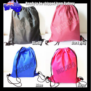 Premium School Drawstring Duffle Bag Sport Gym Swim Dance Shoe Backpack D1